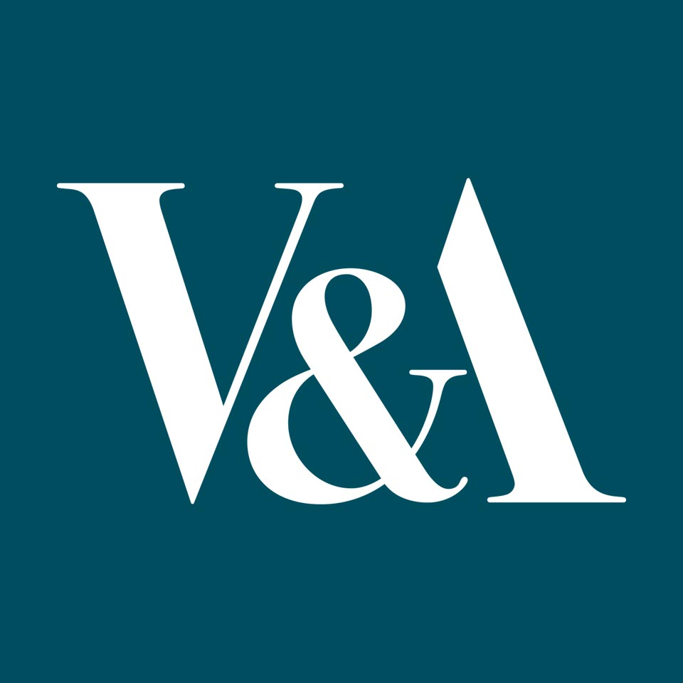 V&A logo on website homepage of roubarb gift shop in East Sussex