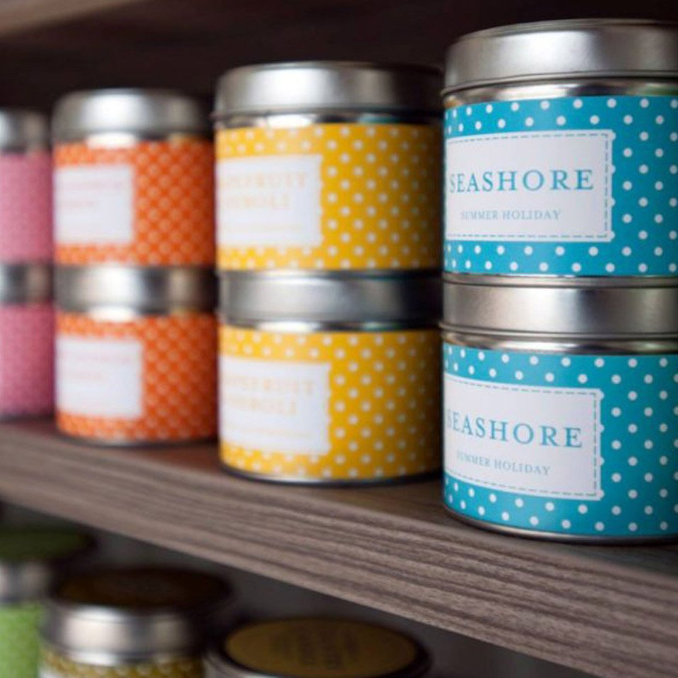 Country Candles square image on website homepage of roubarb gift shop in East Sussex