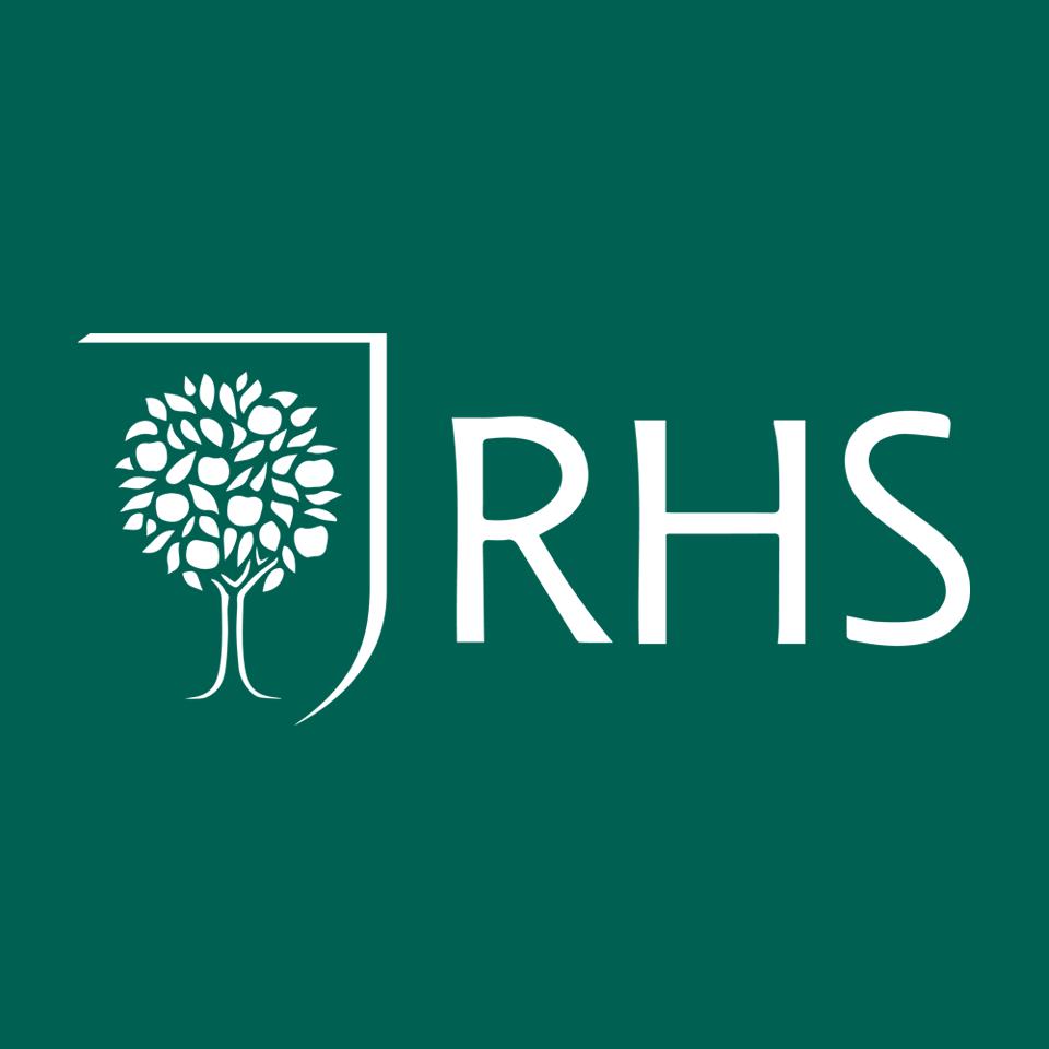 RHS logo on website homepage of roubarb gift shop in East Sussex
