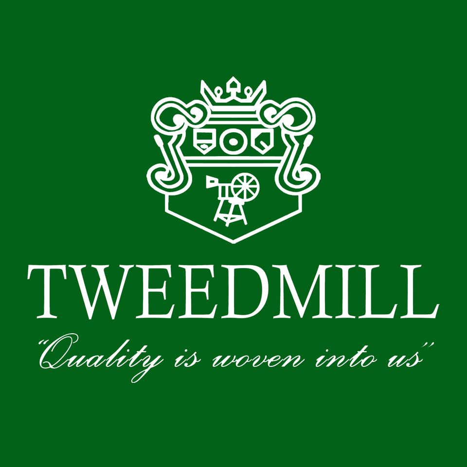 Tweedmill logo on website homepage of roubarb gift shop in East Sussex