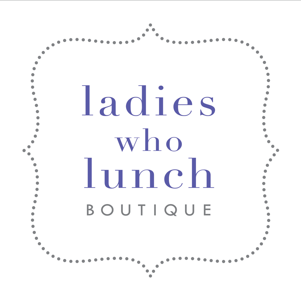 Ladies who Lunch logo on website homepage of roubarb gift shop in East Sussex