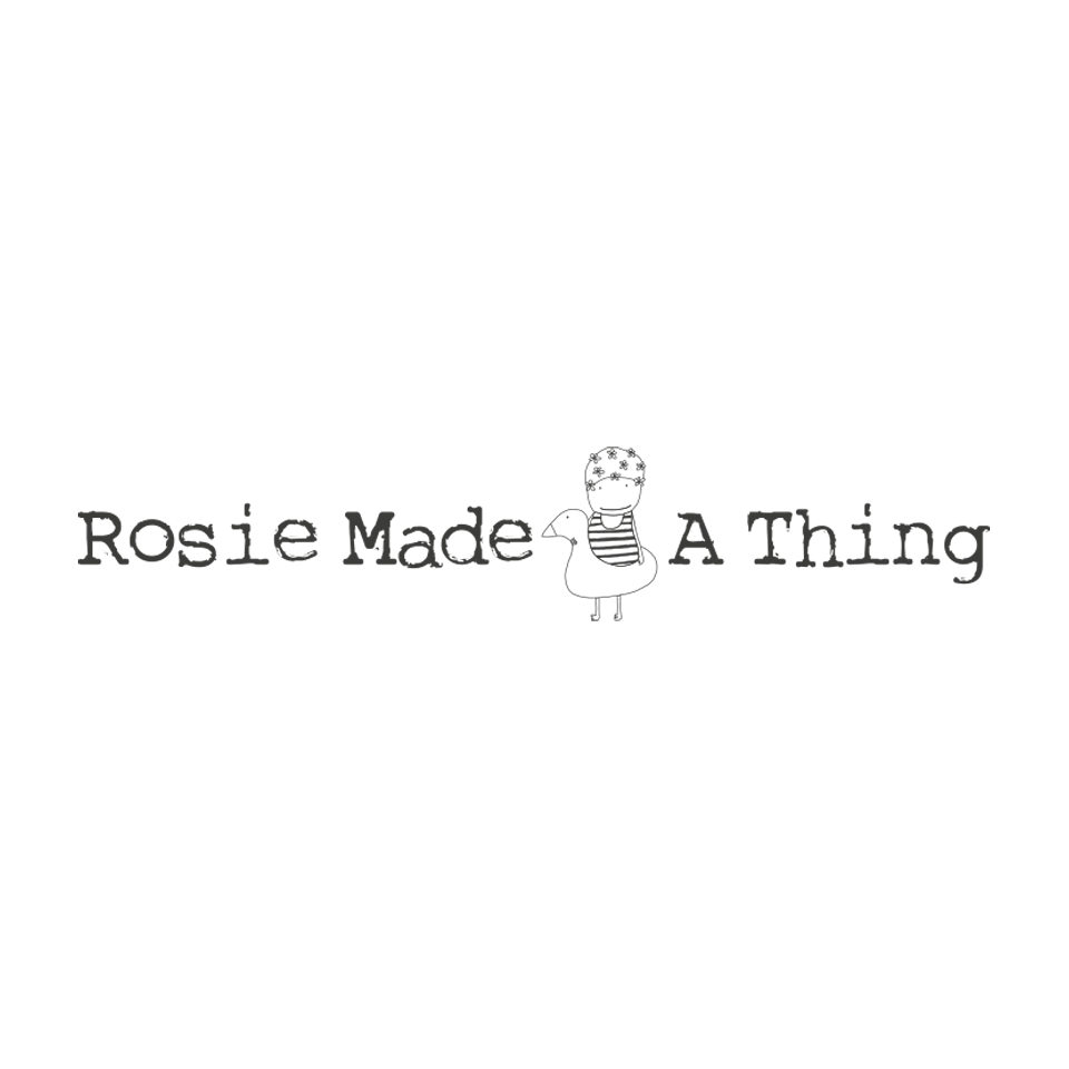 Rosie Made A Thing logo on website homepage of roubarb gift shop in East Sussex