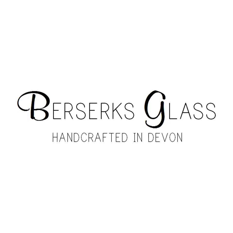 Berserks Glass logo on website homepage of roubarb gift shop in East Sussex